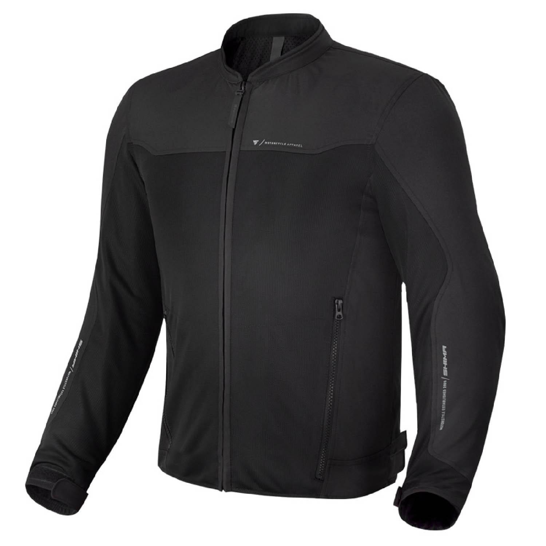 Летняя куртка SHIMA OPENAIR чёрного цвета текстильная для мотоциклистов купить по низкой цене