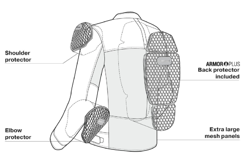 Женская куртка SHIMA OPENAIR LADY текстильная для мотоциклистов вид протекторы купить по низкой цене