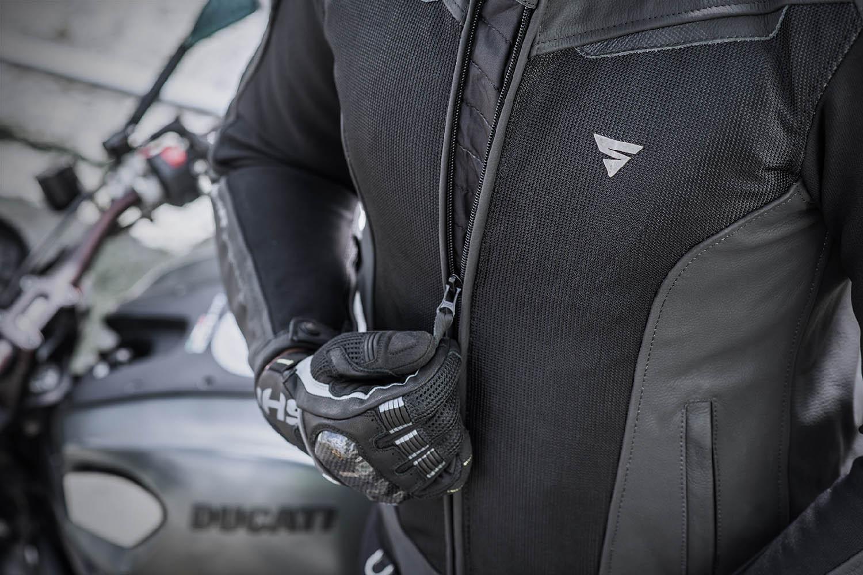 Спортивная куртка SHIMA PISTON кожано-текстильная для мотоциклистов вид молния-застёжка купить по низкой цене