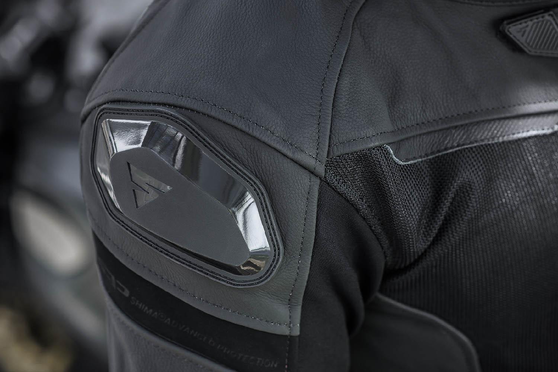 Спортивная куртка SHIMA PISTON кожано-текстильная для мотоциклистов вид слайдер на плече купить по низкой цене