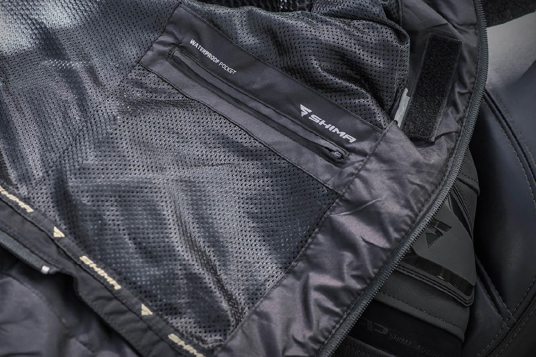 Спортивная куртка SHIMA PISTON кожано-текстильная для мотоциклистов вид внутренний карман купить по низкой цене