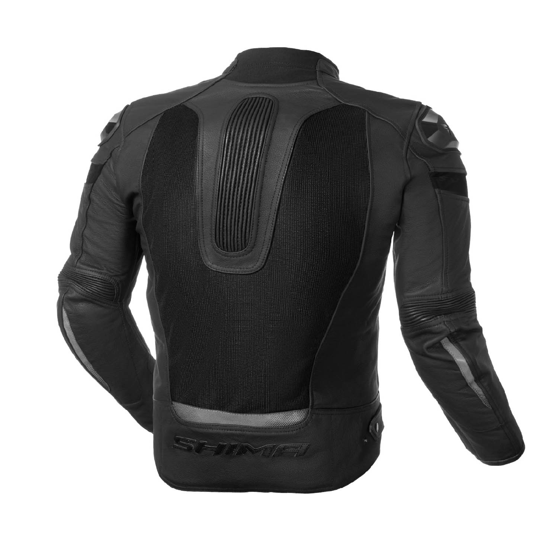 Jachetă de sport SHIMA PISTON кожано-текстильная для мотоциклистов вид сзади купить по низкой цене
