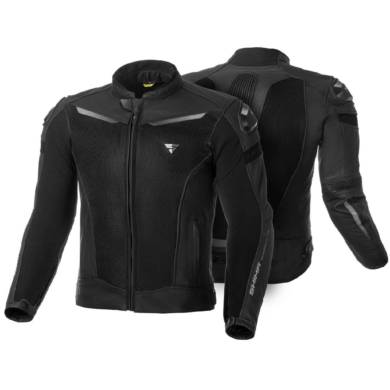 Jachetă de sport SHIMA PISTON кожано-текстильная для мотоциклистов вид спереди и сзади купить по низкой цене