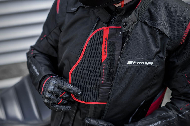 Туристическая куртка SHIMA RUSH текстильная для мотоциклистов вид защита купить по низкой цене