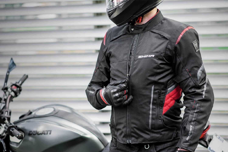 Туристическая куртка SHIMA RUSH текстильная для мотоциклистов вид молния купить по низкой цене