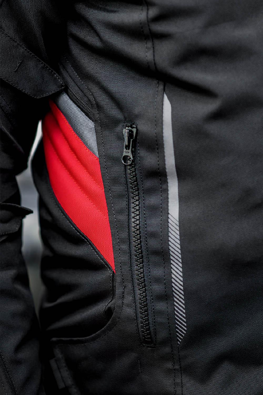 Туристическая куртка SHIMA RUSH текстильная для мотоциклистов вид боковой карман купить по низкой цене