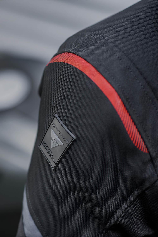 Туристическая куртка SHIMA RUSH текстильная для мотоциклистов вид логотип купить по низкой цене