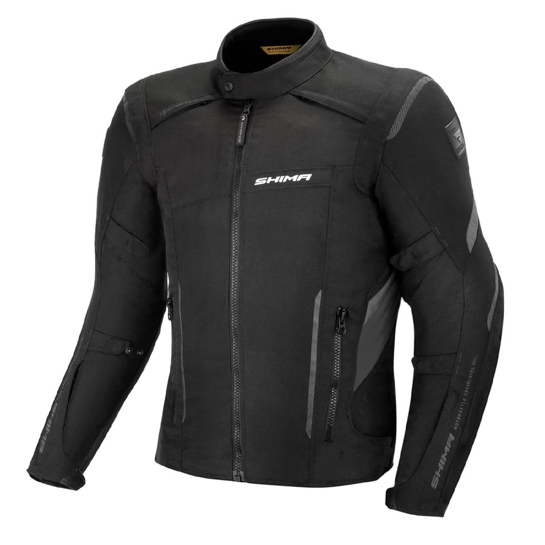 Туристическая куртка SHIMA RUSH текстильная для мотоциклистов, чёрно-серого цвета купить по низкой цене