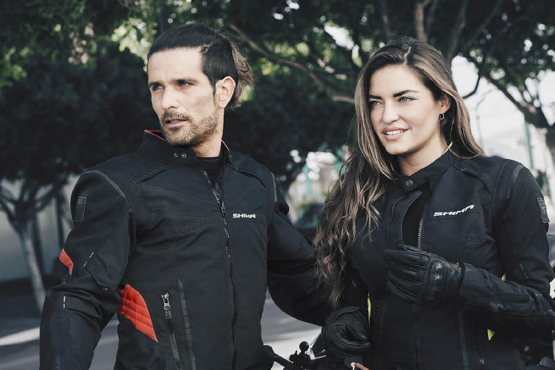 Женская куртка SHIMA RUSH LADY текстильная для мотоциклистов вид вдвоём купить по низкой цене