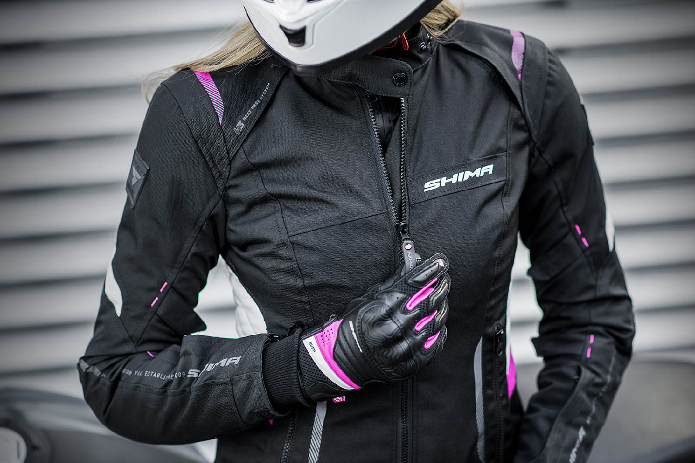 Женская куртка SHIMA RUSH LADY текстильная для мотоциклистов вид основная застёжка купить по низкой цене