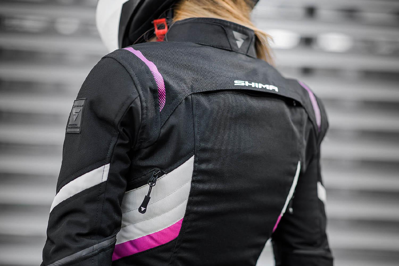 Женская куртка SHIMA RUSH LADY текстильная для мотоциклистов вид со спины купить по низкой цене