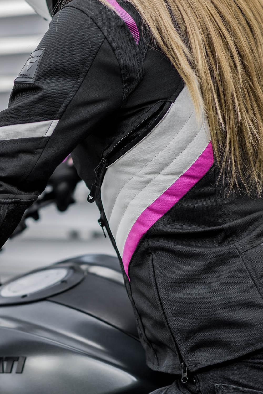 Женская куртка SHIMA RUSH LADY текстильная для мотоциклистов вид вентиляция купить по низкой цене