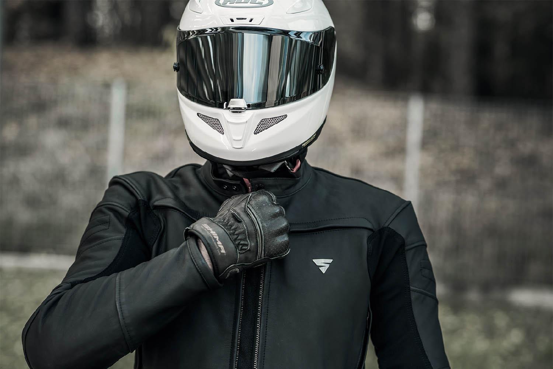 Кожаная куртка SHIMA SHADOW TFL классическая для мотоциклистов вид молния-застёжка купить по низкой цене