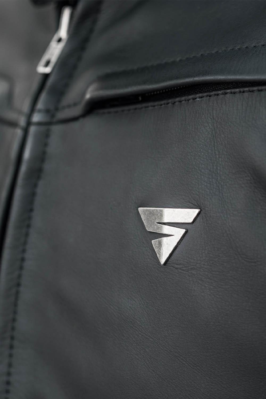 Кожаная куртка SHIMA SHADOW TFL классическая для мотоциклистов вид логотип купить по низкой цене