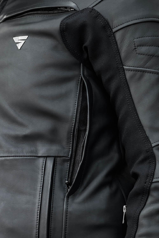 Кожаная куртка SHIMA SHADOW TFL классическая для мотоциклистов вид EvoLink купить по низкой цене