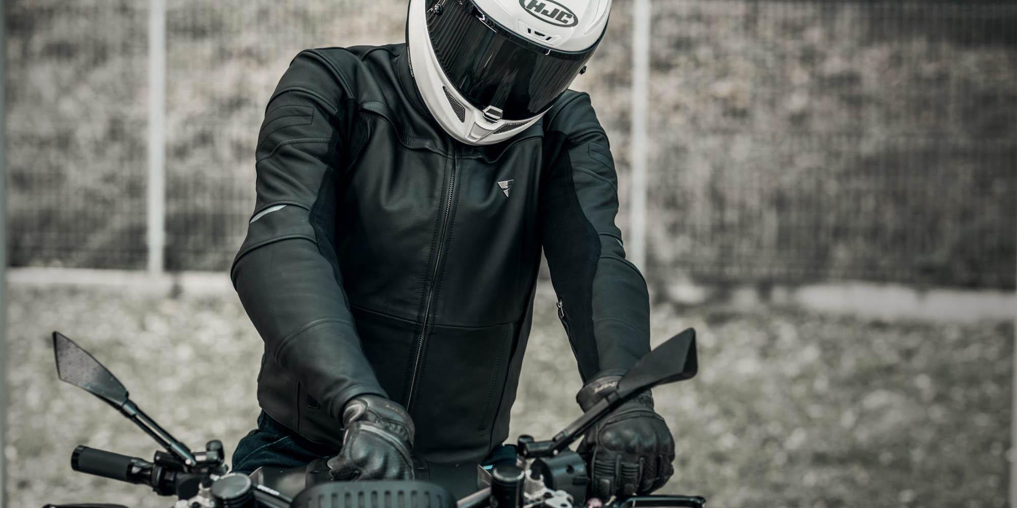 Кожаная куртка SHIMA SHADOW TFL классическая для мотоциклистов вид байк купить по низкой цене