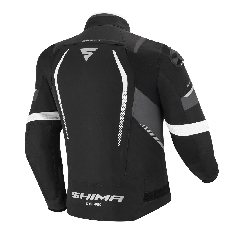 Спортивная куртка SHIMA SOLID PRO текстильная для мотоциклистов вид сзади купить по низкой цене