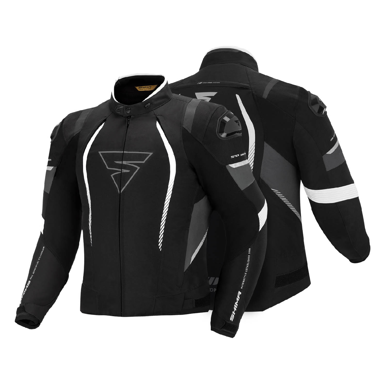 Спортивная куртка SHIMA SOLID PRO текстильная для мотоциклистов вид спереди и сзади купить по низкой цене
