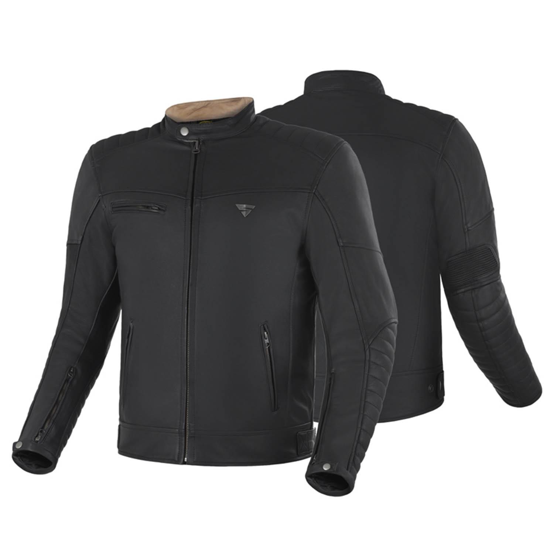 Geaca de piele SHIMA WINCHESTER классическая для мотоциклистов вид спереди и сзади купить по низкой цене