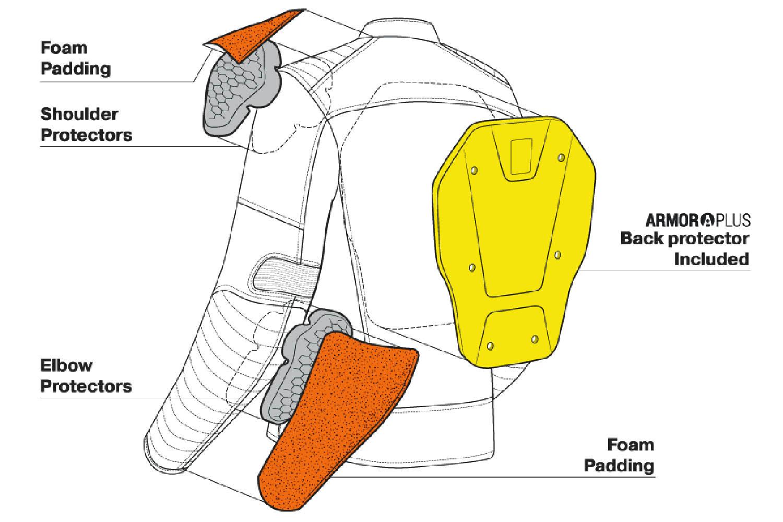 Куртка кожаная SHIMA WINCHESTER классическая для мотоциклистов вид спереди и сзади купить по низкой цене