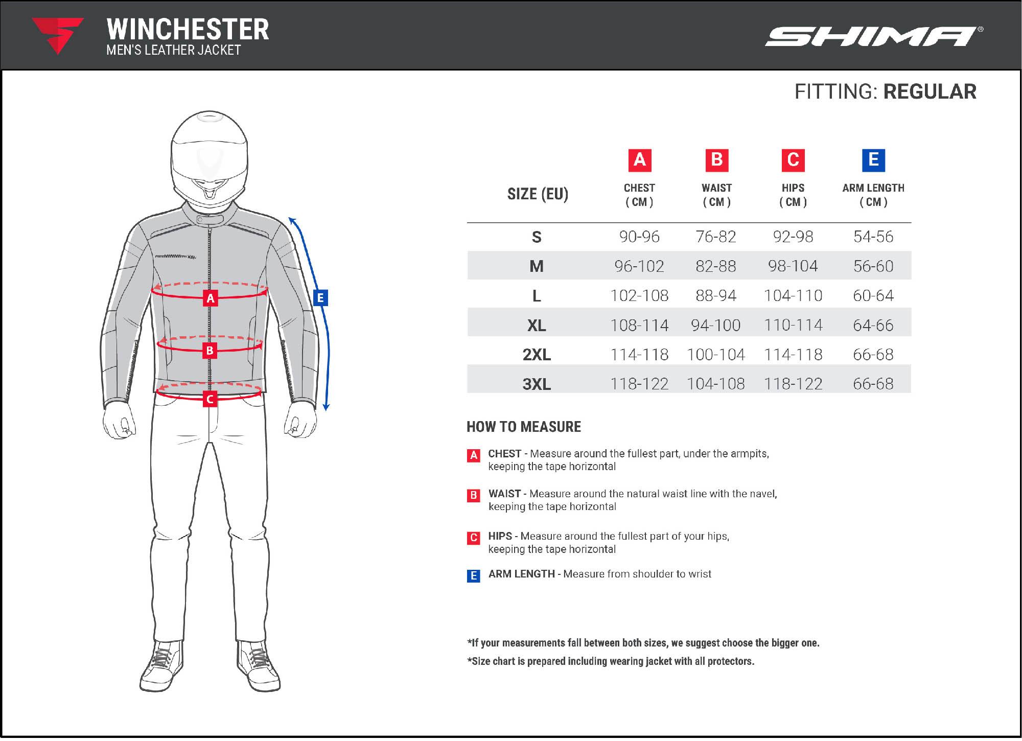 Куртка кожаная SHIMA WINCHESTER классическая для мотоциклистов таблица размеров