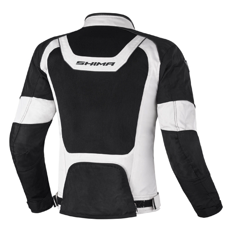 Спортивная куртка SHIMA X-MESH текстильная для мотоциклистов вид сзади купить по низкой цене