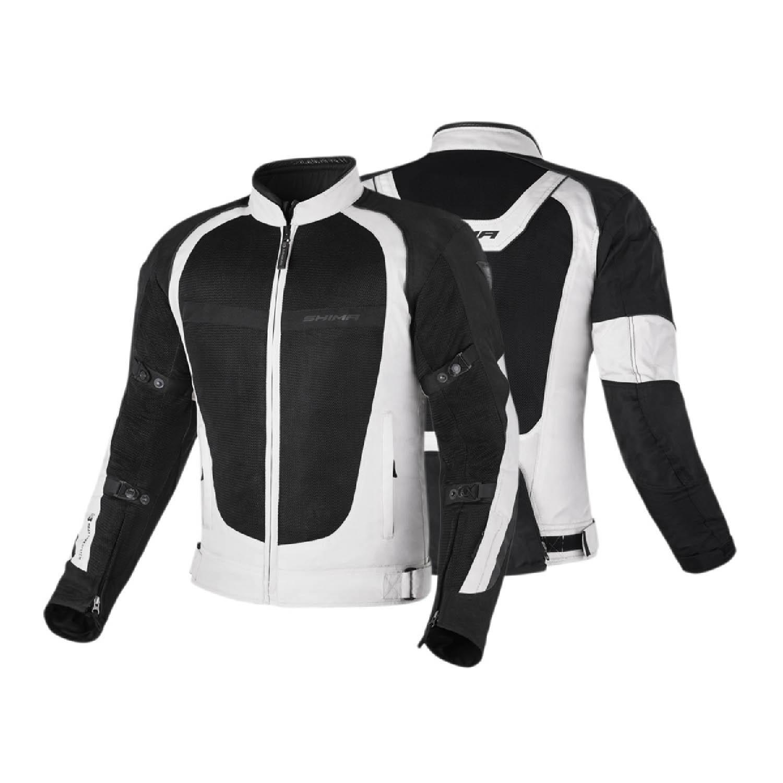 Спортивная куртка SHIMA X-MESH текстильная для мотоциклистов вид спереди и сзади купить по низкой цене