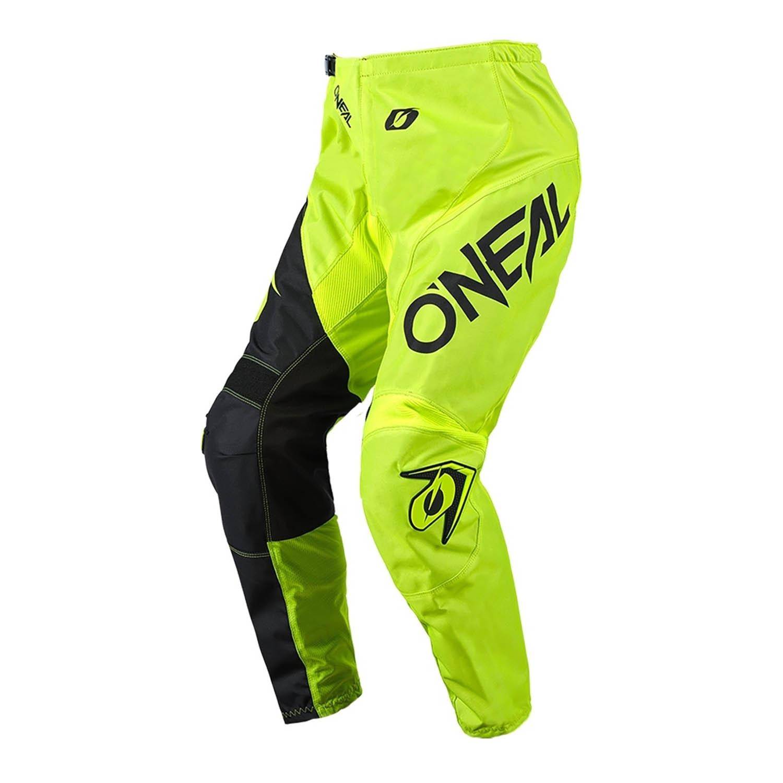 Штаны для мотокросса O'NEAL ELEMENT PANTS RACEWEAR неоново-черного цвета купить по низкой цене