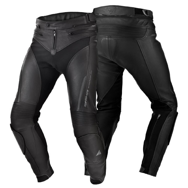 Мотоциклетные штаны SHIMA CHASE TROUSERS из кожи вид пара купить по низкой цене
