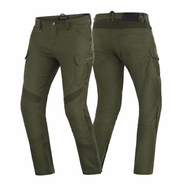 Мотоциклетные штаны SHIMA GIRO из текстиля купить по низкой цене цвет хаки вид спереди и с зади