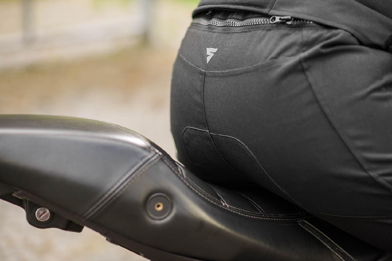 Мотоциклетные штаны SHIMA JET TROUSERS из текстиля вид на сидение купить по низкой цене