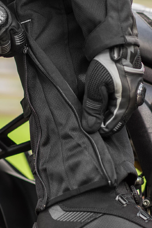 Мотоциклетные штаны SHIMA JET TROUSERS из текстиля вид молния внизу купить по низкой цене
