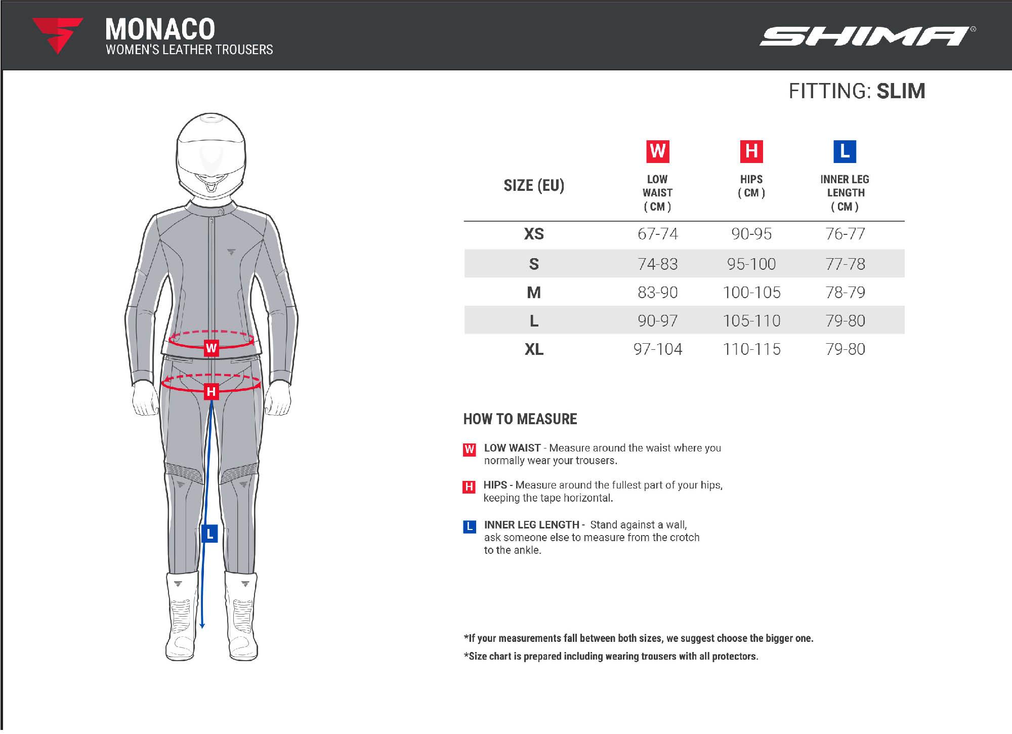 Мотоциклетные штаны SHIMA MONACO из кожи для мотоледи