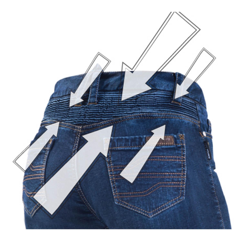 Джинсы с защитой SHIMA SANSA для мотоледи, вид эластичной вставки купить по низкой цене