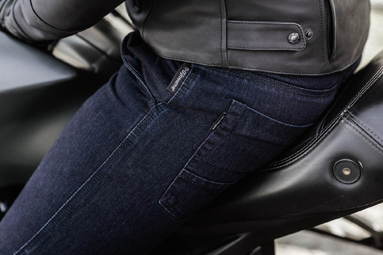 Джинсы мотоциклетные SHIMA TARMAC 3.0 вид сидя купить по низкой цене