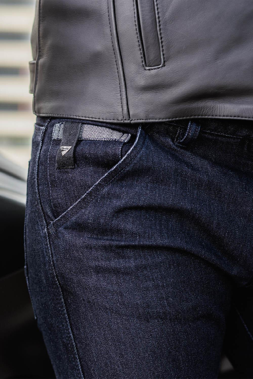 Джинсы мотоциклетные SHIMA TARMAC 3.0 вид карман спереди купить по низкой цене