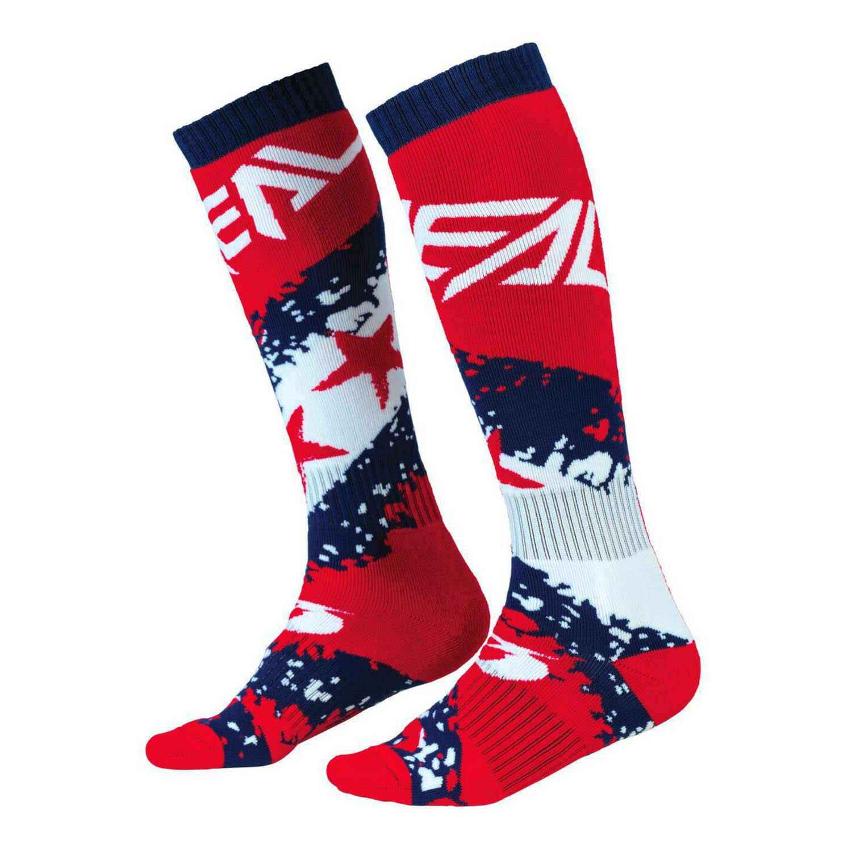 Ciorapi O'NEAL PRO MX SOCK STARS мотокроссовые, сине-красного цвета купить по низкой цене