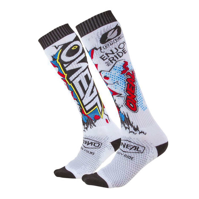 Носки O'NEAL PRO MX SOCK VILLAIN мотокроссовые, белого цвета купить по низкой цене