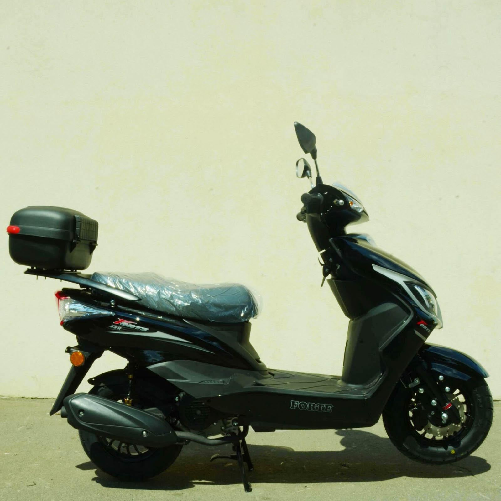 Скутер Forte M8 цвет чёрный вид справа купить по низкой цене