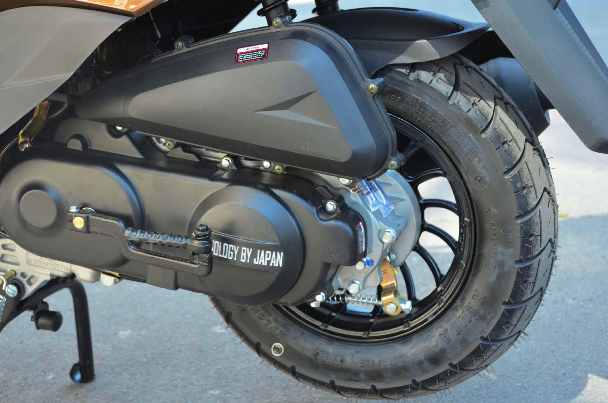 Скутер Forte M8 вид колесо сзади купить по низкой цене
