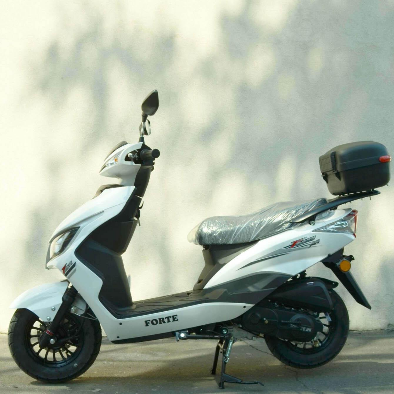Скутер Forte M8 цвет белый вид слева купить по низкой цене