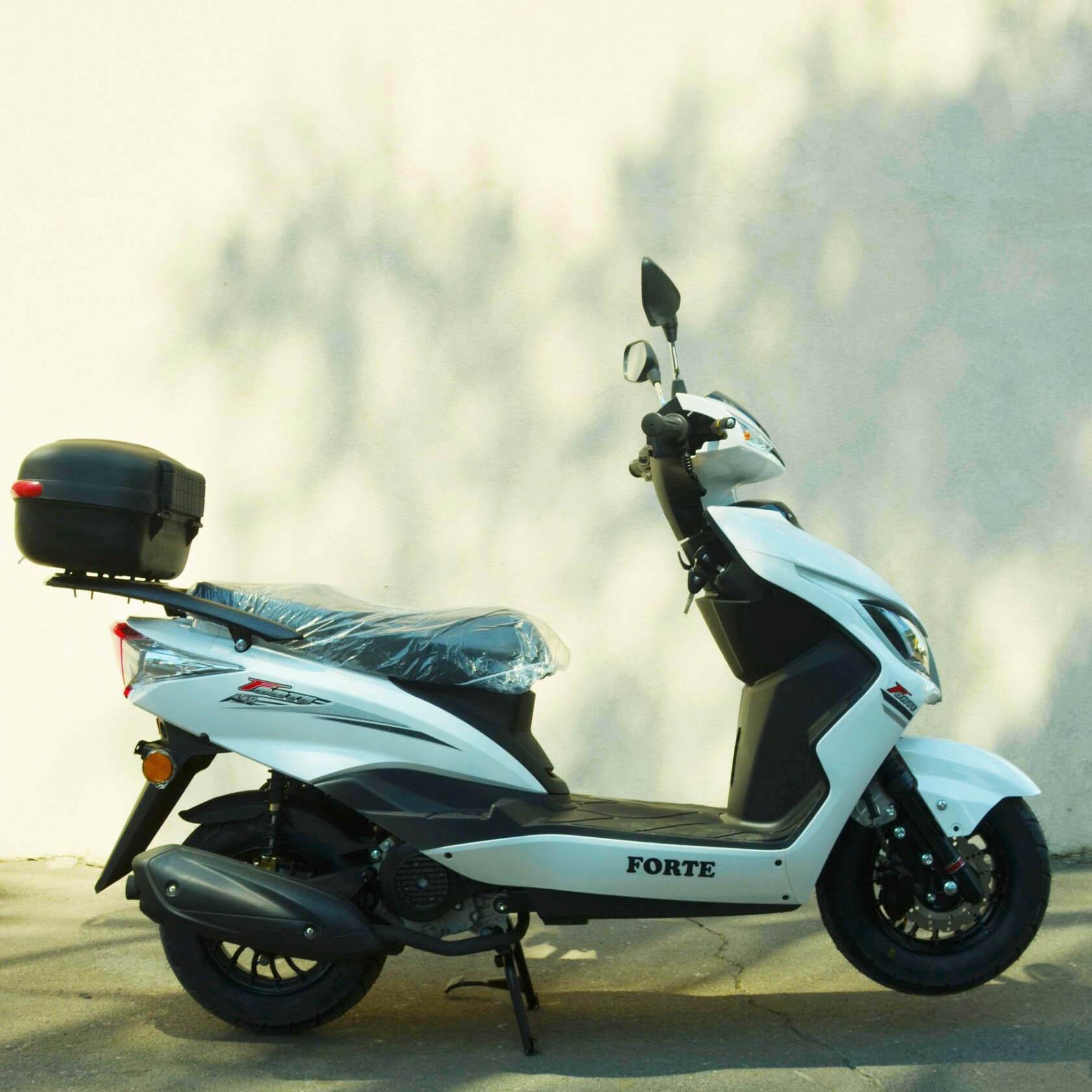Скутер Forte M8 цвет белый вид справа купить по низкой цене
